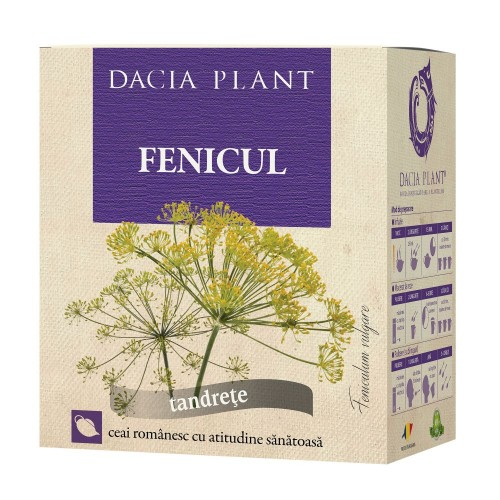 Ceai de fenicul, vrac 50 g, Dacia Plant
