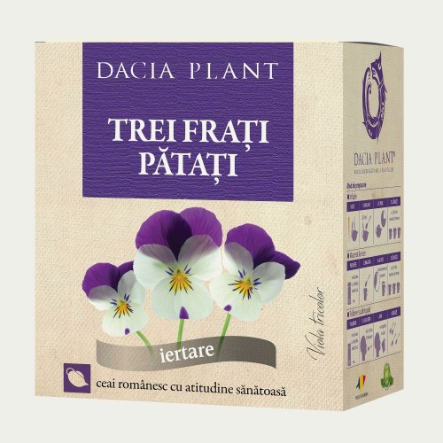 Ceai de trei frati patati, vrac 50 g, Dacia Plant