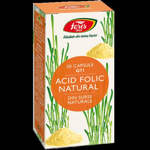 Acid Folic Natural, G71, 30 capsule, Fares