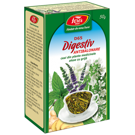 Ceai Digestiv Antibalonare, D65, 50 g Fares