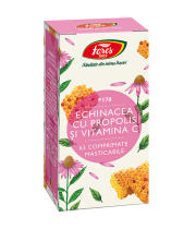 Echinacea cu propolis și vitamina C, F170, comprimate masticabile, Fares