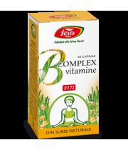 B complex vitamine naturale, F172, 60 capsule, Fares