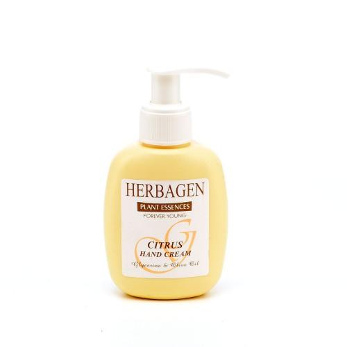 Cremă de mâini cu citrice, glicerină și ulei de măsline, 100 gr, Herbagen