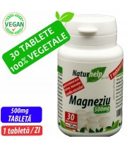 MAGNEZIU 500MG 30 TABLETE VEGETALE NATURHELP