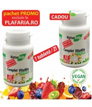 PACHET PROMO COMPLETE VITAMINS 30 TABLETE VEGETALE CU 30 TABLETE CADOU NATURHELP
