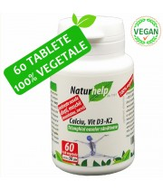CALCIU VIT D3 K2 60 TABLETE VEGETALE NATURHELP