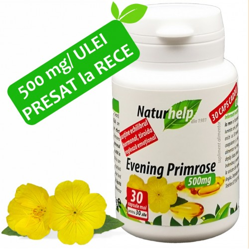 EVENING PRIMROSE LUMINITA SERII 500MG 30 CAPS NATURHELP