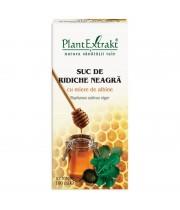 Suc de Ridiche Neagră cu miere de albine, 100 ml, PlantExtrakt