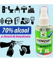 Igienizant dezinfectant pentru suprafete  70% alcool 100ML Saniderm