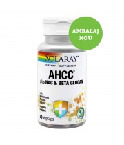 AHCC PLUS  NAC & BETA GLUCAN 30 CPS, SECOM